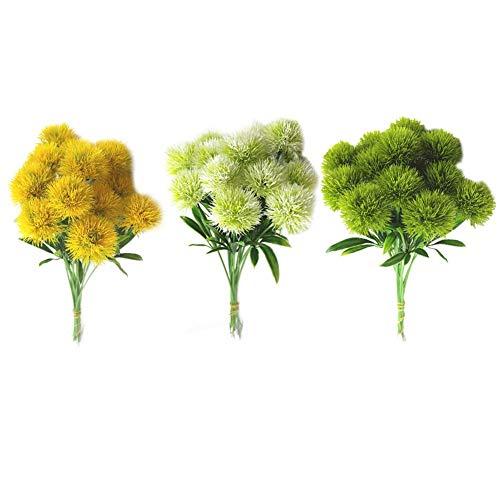 10pcs / set fiore simulato fiori artificiali dente di leone decorazione festa di natale fiore finto decorazioni per la casa fiore di plastica matrimonio decorazione della casa di san valentino