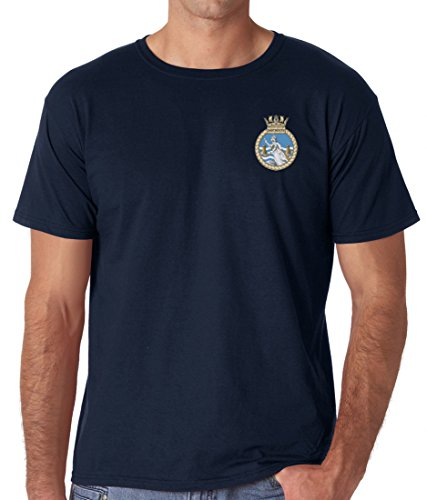 HMS Dartmouth Embroidered Logo - Official Royal Navy Ringspun T Shirt By Military Online