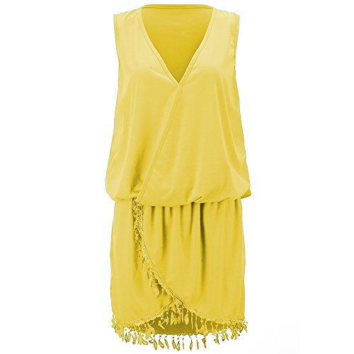 Coffeepop -  Vestito  - linea ad a - Donna Yellow Medium
