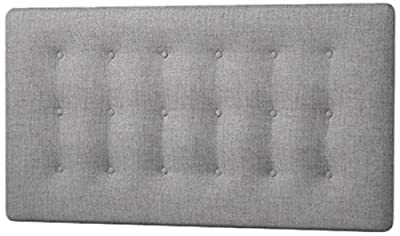 Happy Beds Cornell Buttoned Headboard, Fabric, Slate Grey Cotton, 4 ft 6-Inch, Double - cheap UK light shop.