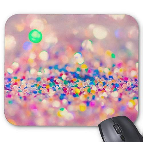 Gaming Mouse Pad s¨¹?e bunte Strass Design f¨¹r Desktop und Laptop 1 Pack