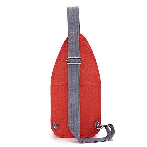 Tinyat T606 Borsa a Tracolla Borsa Sul Petto Messenger Bag Nel Tempo Libero Viaggio, Arancione Orange