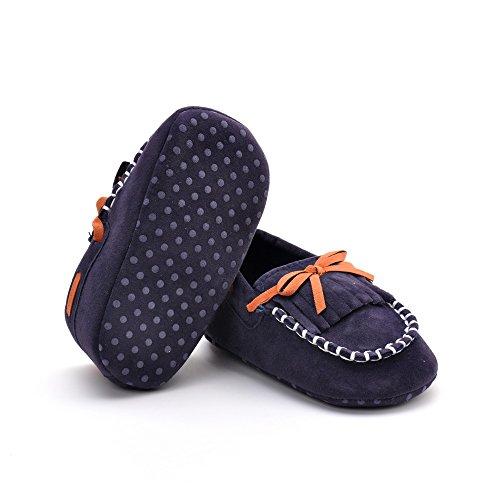 Estamico Baby Mädchen Mokassins Jungen Schuhe Rot Größe 12-18 Monate Bleu Marine