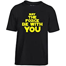 Cotton Island - T-shirt para ninos TR0093 May The Force Be With You 25mm 1 Pin Button Badge Star Wars Jedi George Lucas