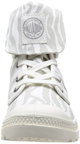 Palladium Baggy Animals, Boots femme Gris (Zebra/Off White)