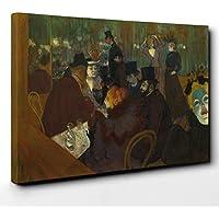 Big Box Art Art Toile imprimée Motif Henri de Toulouse-Lautrec au Moulin Rouge Bois Multicolore 101 x 71 x 3 cm