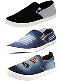 Ethics Men's Faux_Leather Combo Of 3 Casual Shoes