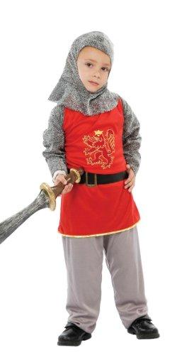 GUIRCA SL. Costumi Bambini 4-6 Anni Guerriero Medievale, Rossoe Grigio