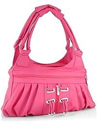 FourDatr Hand-held Frill Bag (Pink)