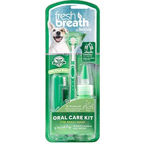 Tropiclean Fresh Breath Oral Care Kit per Cani, Piccolo