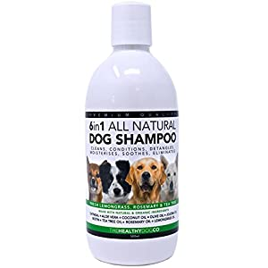 6-in-1-All-Natural-Dog-Shampoo-Fresh-Lemongrass-Rosemary-Tea-Tree-500ml-The-Best-Pet-Wash-to-Groom-Clean-Condition-Detangle-Moisturise-Relieve-Itching-Eliminate-Germs-Deodorise