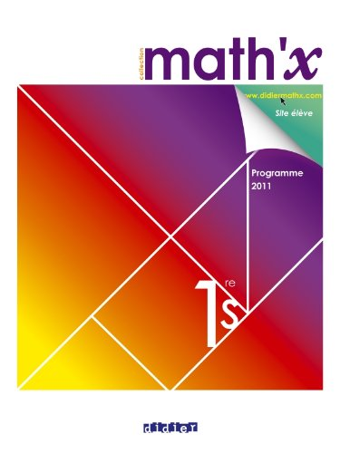 Math'x 1re S - manuel grand format - dition 2011