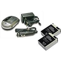 Kit pour GoPro HERO3: 2 batteries BPH-0334N + 1 chargeur de batterie CPH-0193