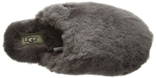 UGG Fluff Clog, Pantoufles de Maison homme Gris (Grey)