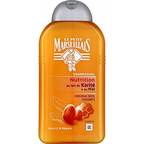 Le Petit Marseillais Shampooing Cheveux Secs/Abîmés/Cassants Karité Miel Flacon de 250 ml