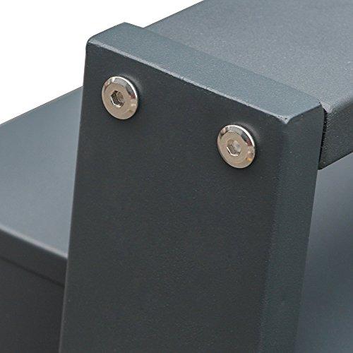 BITUXX® Design Stand-Briefkastenanlage Postkasten Letterbox Mailbox Edelstahl Briefklappe mit 3 Fächer Dunkelgrau - 7