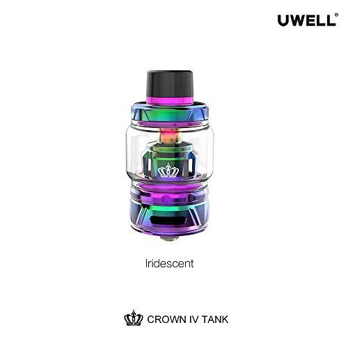 Original Uwell Crown 4/IV Tank 6ml Innovative Patentierte Selbstreinigungstechnologie, Kein Durchsickern- Ohne Nikotin Ohne Tabak (Iridescent)