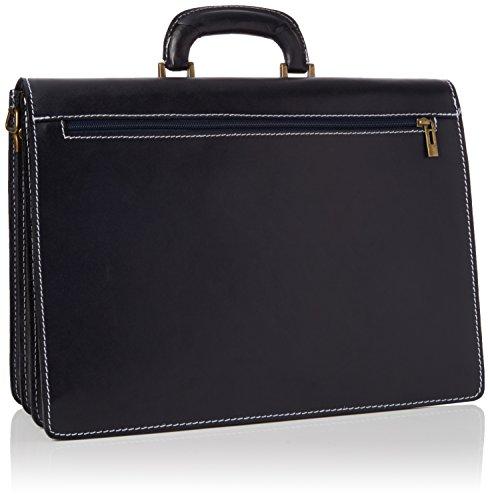 Bags4Less Unisex-Erwachsene Pisa Aktentasche Laptop Tasche, 14x30x40 cm Blau (Dunkelblau)