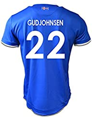 Generic 20162017Island 22eidur gudjohnsen Home Football Jersey in Blau