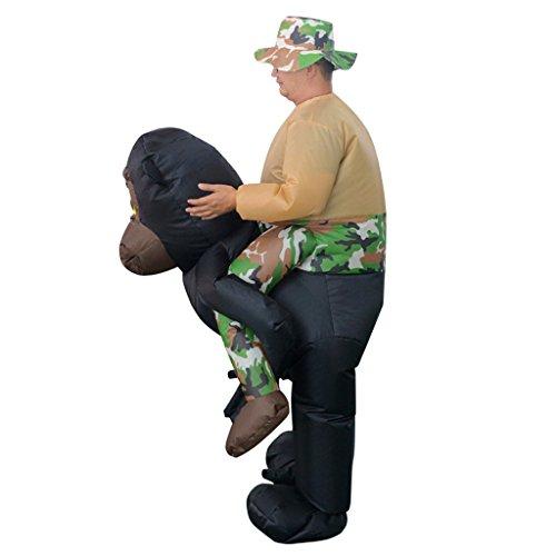 Fenteer Lustige Reiten Gorilla AFFE Erwachsene Fan Aufblasbare Kostüm Partei Fett Kostüm Airblown Anzug (Airblown Aufblasbare Kostüm)