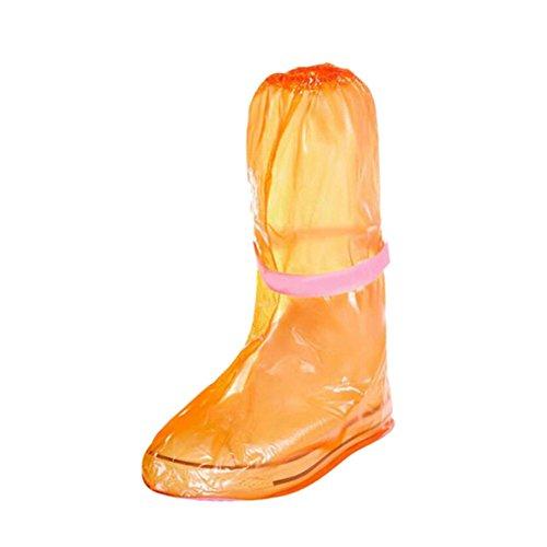 Haodasi Leicht walking Schuhe Covers Abdeckungen Reisen Rainproof Slip-resistant Verdicken Regen Schnee Boots Protective Cover Overshoes Orange Rainsuit