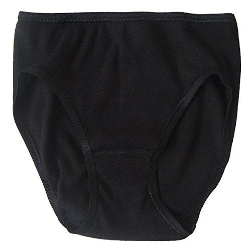 HERMKO 62130 Mädchen Athletic Slip - Funktionsunterhose, Farbe:schwarz, Größe:164