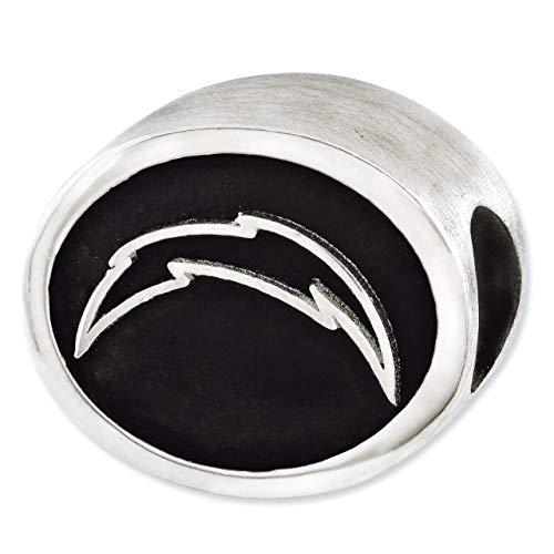 Lex & LU Sterling-Silber 925emailliert Los Angeles Ladegeräte NFL Bead