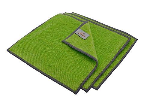 Putzglanz Premium Bambustücher 3er Pack 20x22cm - Bambus Reinigungstücher zur optimalen Reinigung in der Küche - waschbar saugstark umweltfreundlich reißfest