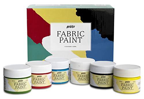 Set Pintura Textil Gekko - 6 Colores x 100 ml      ¿Estás pensando en decorar un bolso de tela? ¿customizar alguna de tus camisetas? ¿O personalizar cualquier prenda textil? Entonces este set de pintura textil de la marca Gekko es lo que busc...