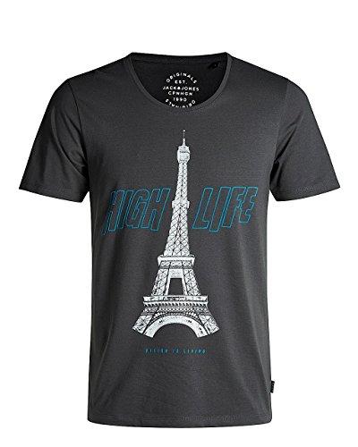 Jack & Jones Herren T-Shirt JORINVERT TEE SS U-NECK Total Eclipse