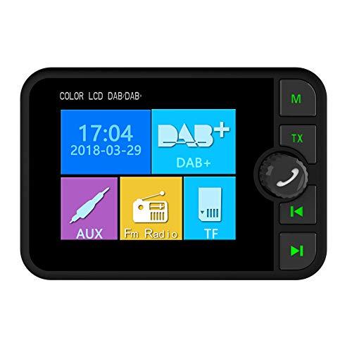 Car DAB/DAB + radio Adapter voor autoradio, digitale radio ontvanger met Bluetooth FM Transmitter Handsfree Digitaal radio Wireless FM Adapter MP3-speler radio audio adapter(schwarz) Fm Hands Free Kit