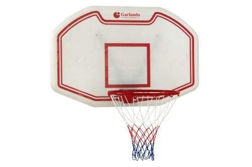 Garlando Tabellone da Basket Muro Seattle Cm. 110 X 70 Nero/Rosso