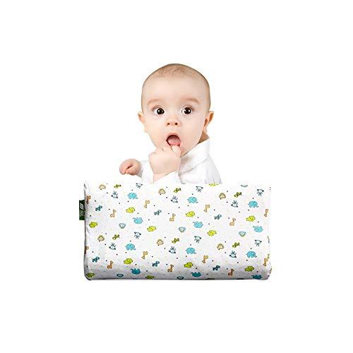 Emmala Baby Kissen Für Flat Head Casual Chic (Plagiozephalie) Memory Foam Kissen Für Neugeborene Baby Animal Print Kleinkind Kissen Anti Roll Schlafen Kissen (Color : Colour, Size : Size)