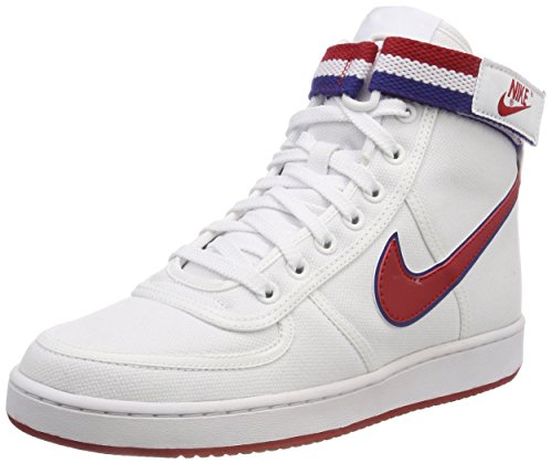 Nike Vandal High Supreme, Zapatos de Baloncesto para Hombre, Blanco (White/Gym Red/Deep Royal Blue/White 101), 46 EU