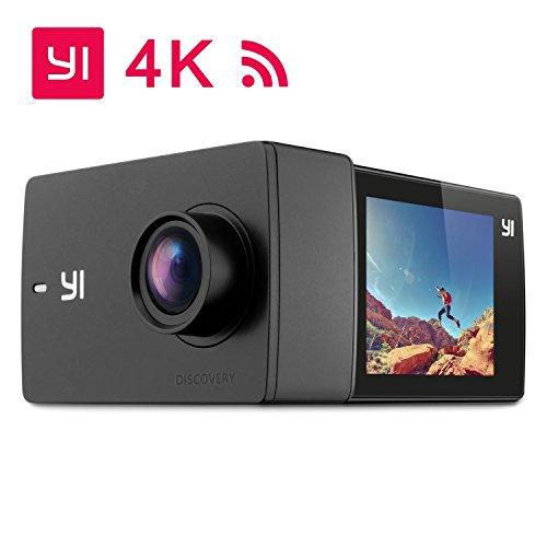 """YI Discovery 4K Caméra D'action Caméra Sport 16MP Wi-Fi 2.0"""" LCD Ecran Tactile Rechargeable Grand Angle de 150° Caméra Sportive Sony Image Capteur Pour Débutant"""