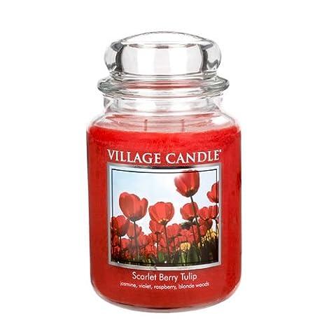 Village Candle 16oz (899g) Scarlet Berry Tulip Jar Candle