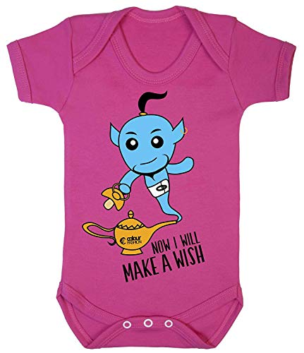 Cerise Kostüm - Colour Fashion Aladdin Jinn Cool Druck Baby Body Kostüm Hypoallergen 100% Cotton - Cerise Rosa, 0-3 Months