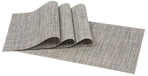 Zollner 4er Set Tischset Platzset, ca. 30x45 cm, Stein meliert (weitere verfügbar), aus PVC und Polyester