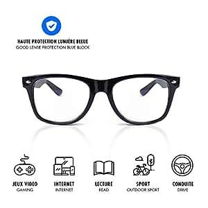 LUSEE ORIGINAL - gamme mixte - Lunettes anti lumière bleue - Protégez vos yeux des écrans (Gaming PC Mobile Telephone TV) - Lunettes gamer et travail, filtre Anti Stress Anti Fatigue Anti UV