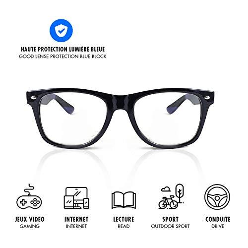 Lusee – Brillen für Gaming und Arbeit, Schutz vor blauem Licht (Videospiele, Computer, Smartphone, Tablet, TV, Gamer), bekämpfen Ermüdung, visuellen Stress und fördern den Schlaf.