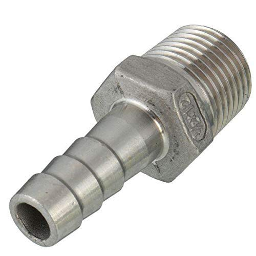 Kerlana 1/4 Inch Thread Pipe Barb Schlauchschlauch-Adapter 6mm Bis 12mm-12mm (Color : -, Size : 6mm) -