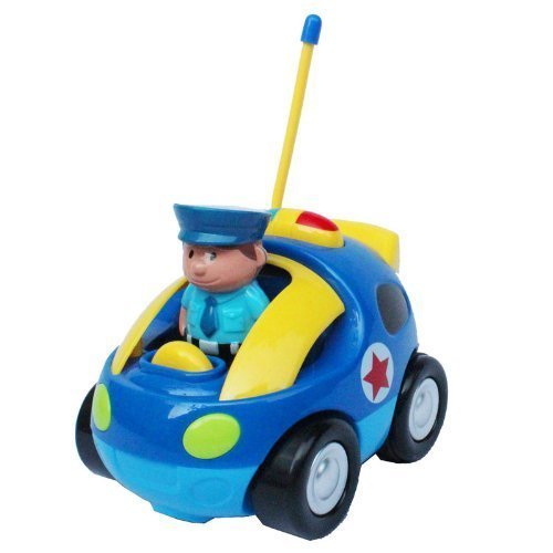 Cartoon R/C Police Car Radio Control Toy for Toddlers MC66B Hobbies Hobby Gift by Albert Toys