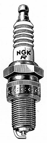 NGK Spark Plugs box of 10, BPR6EFS by NGK