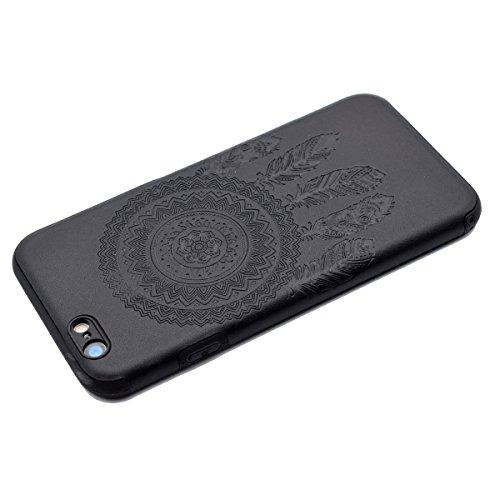 Custodia inShang cover per iPhone 7 4.7 Cellulare,super slim e leggero TPU materiale Cover posterior stili per iPhone7 4.7 inch Black chimes