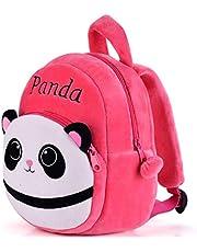 DZert Panda Kids School Bag Soft Plush Backpacks Cartoon/Boy/Girl/Baby/ (2-5 Years) (Rani)