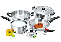Sheffield Classic Stainless Steel 6 Piece Cookware Set, Hard-Anodised