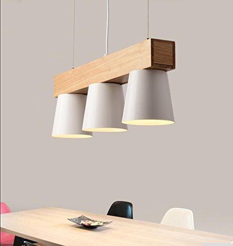 Lumière intérieure Lumière pendentif en bois nordique pendentif lumières conception avec lampe triple pendentifs pendentif en métal lampe moderne lampe suspendue E27 lumière suspension lumière chaude éclairage