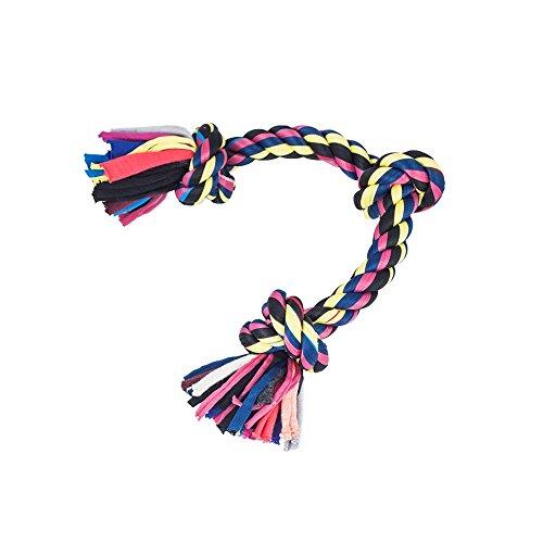 Blueberry Pet Hundespielzeug zum Ziehen, mit 3 Knoten, aus Seil, interaktives Spielzeug, für mittelgroße bis große Hunde, 25,4cm