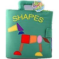 ❤️ Juguetes de bebe❤️ Dragon868 Animal Monkey Puzzle tela libro para bebé juguete intellligence desarrollo libros
