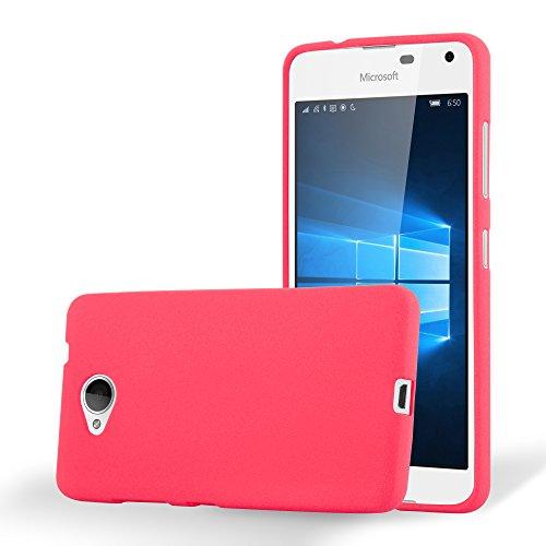 Preisvergleich Produktbild Cadorabo Hülle für Nokia Lumia 650 - Hülle in Frost ROT – Handyhülle aus TPU Silikon im matten Frosted Design - Silikonhülle Schutzhülle Ultra Slim Soft Back Cover Case Bumper